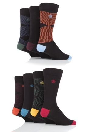 Mens 7 Pair Jeff Banks Zig Zag Cotton Socks