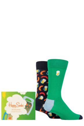 Happy Socks 2 Pair Beer Gift Boxed Socks