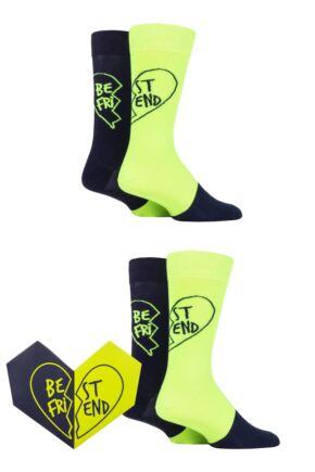 Happy Socks 2 Pair Bestie Gift Boxed Socks