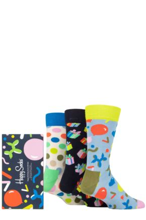 Happy Socks 3 Pair Happy Birthday Gift Boxed Socks