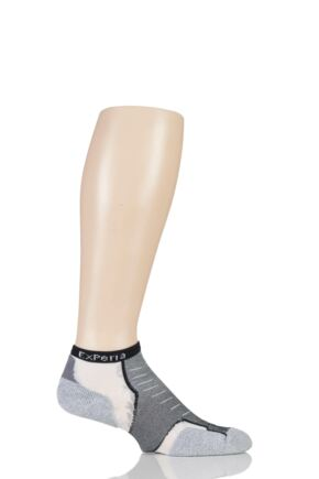 Mens and Ladies 1 Pair Experia By Thorlos Cushioned Running Micro Mini Crew Socks Black 11.5-13