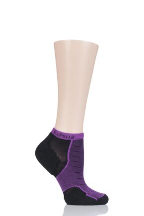 Mens and Ladies 1 Pair Experia By Thorlos Cushioned Running Micro Mini Crew Socks Night Berry 3-5.5