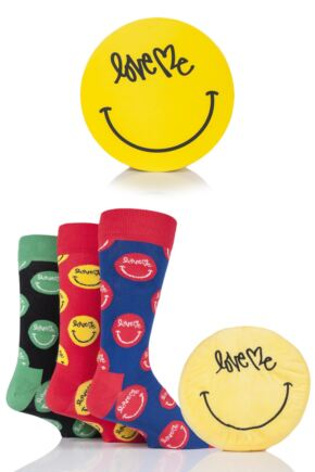 Mens and Ladies 3 Pair Happy Socks Love Me Cotton Gift Boxed Socks
