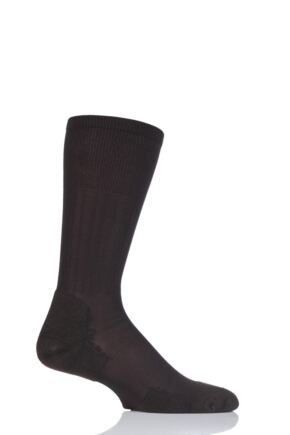 Mens 1 Pair Thorlos Experia Ultra Light Dress Crew Socks Brown 11.5-13 Unisex