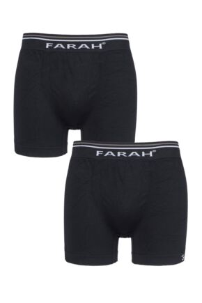 Mens 2 Pack Farah Seamless Boxer Shorts