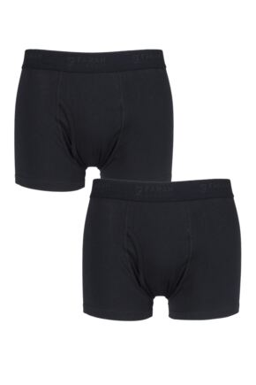 Mens 2 Pair Farah Plain Trunks
