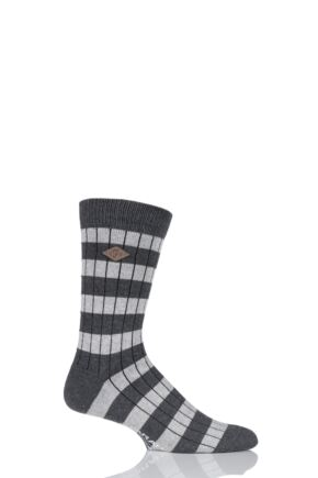 Mens 1 Pair Farah 1920 Cotton Chunky Ribbed Leisure Boot Socks
