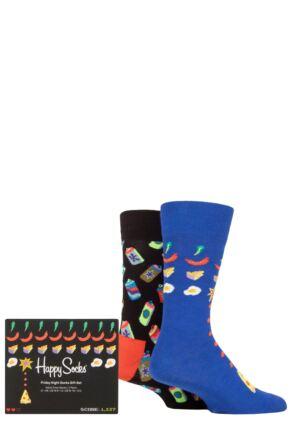 Happy Socks 2 Pair Friday Night Gift Boxed Socks