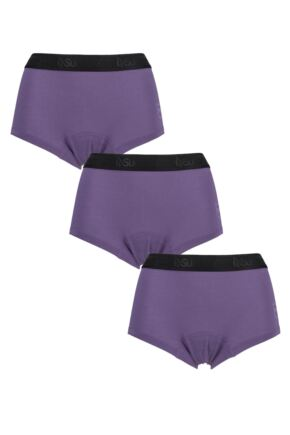 Ladies 3 Pack SueMe Beech Shorties Beech Tree Pulp Knickers