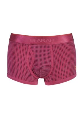 Mens 1 Pair Farah Vintage Printed Keyhole Trunks In Pink Pink M