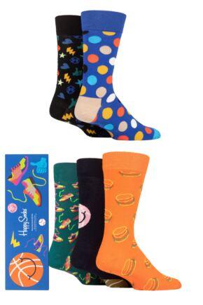 Happy Socks 5 Pair Game Day Gift Boxed Socks