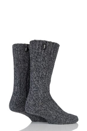 Mens 2 Pair Jeep Terrain Boot Sock Charcoal