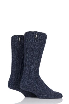 Mens 2 Pair Jeep Terrain Boot Sock Navy 6-11 Mens