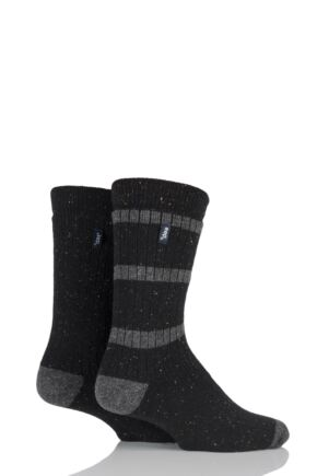 Mens 2 Pair Jeep Speckle Yarn Boot Socks