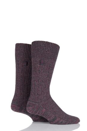 Mens 2 Pair Jeep Urban Trail Wool Ribbed Boot Socks