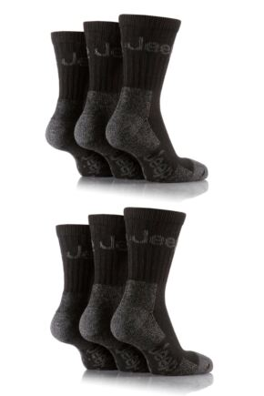 Mens 6 Pair Jeep Luxury Terrain Socks