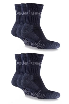 Mens 6 Pair Jeep Luxury Terrain Socks