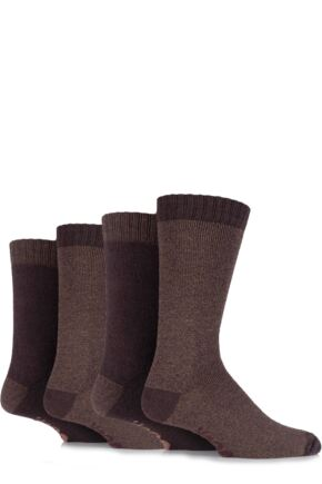 Mens 4 Pair Jeep Urban Trail Marl Boot Socks