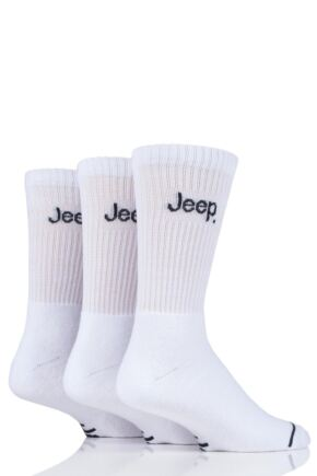 Mens 3 Pair Jeep Leisure Boot Socks