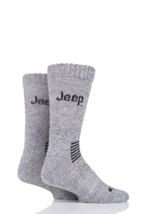 Mens 2 Pair Jeep Wool Mix Socks