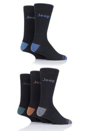 Mens 5 Pair Jeep Plain Socks