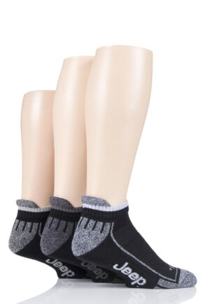 Mens 3 Pair Jeep Trainer Socks
