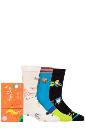 Kids 3 Pair Happy Socks Better Together Socks Gift Set