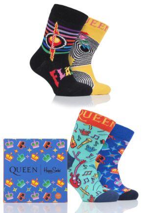 Babies 4 Pair Happy Socks Queen 'We Will Sock You' Gift Boxed Socks
