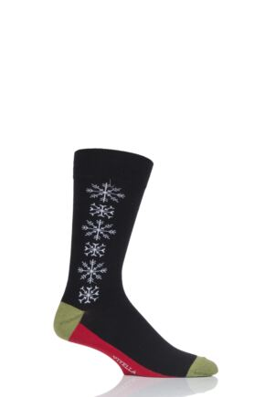 Viyella Mens 1 Pair Snowflake Cotton Socks