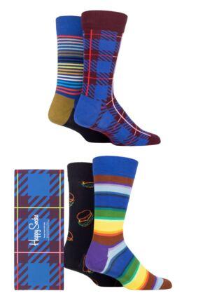 Happy Socks 4 Pair Navy Gift Boxed Socks