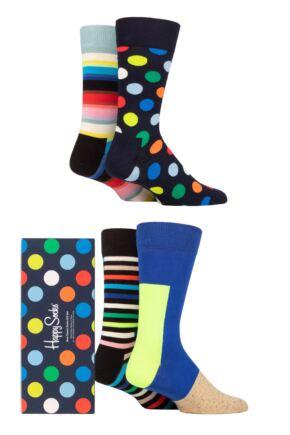 Happy Socks 4 Pair New Classic Gift Boxed Socks
