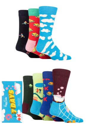 Happy Socks 7 Pair 7 Day Gift Boxed Socks