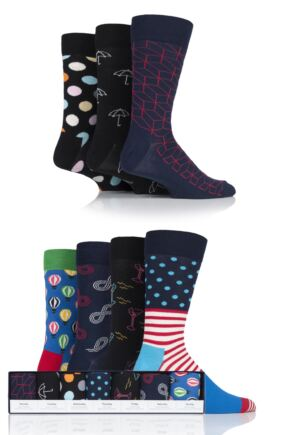 Mens and Ladies 7 Pair Happy Socks 7 Days Socks Gift Box