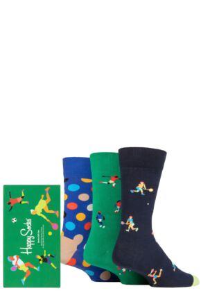 Happy Socks 3 Pair Sports Gift Boxed Socks
