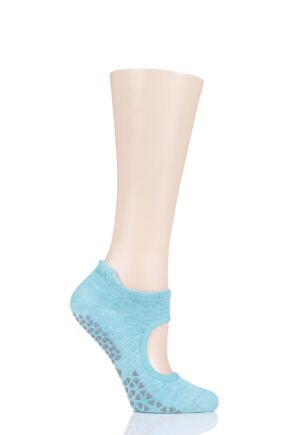 Ladies 1 Pair Tavi Noir Emma Organic Cotton Yoga Socks with Grip