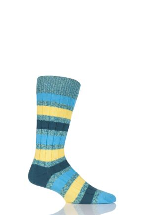Scott Nichol Appleton Ribbed Striped Cotton Socks