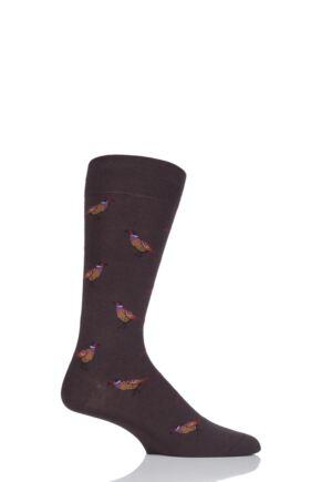 Mens 1 Pair Scott Nichol All Over Pheasants Cotton Socks