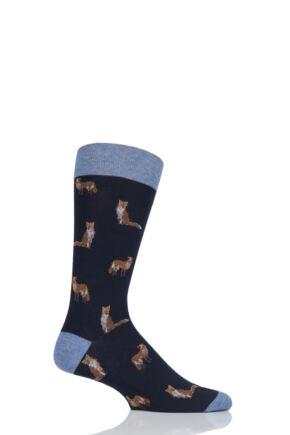 Mens 1 Pair Scott Nichol Farnley All Over Foxes Cotton Socks