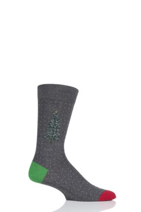 Mens 1 Pair Scott Nichol Christmas Tree Cotton Socks