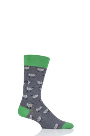 Mens 1 Pair Scott Nichol All Over Sheep Cotton Socks