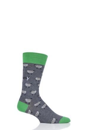 Mens 1 Pair Scott Nichol All Over Sheep Cotton Socks