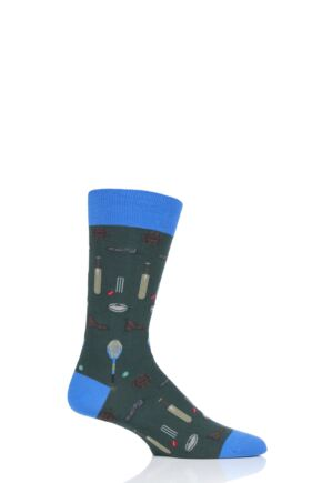 Mens 1 Pair Scott Nichol All Over Sports Cotton Socks