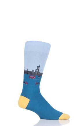 Mens 1 Pair Scott Nichol London Waterloo Cotton Socks