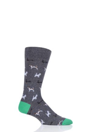 Mens 1 Pair Scott Nichol Doyle All Over Dogs Cotton Socks