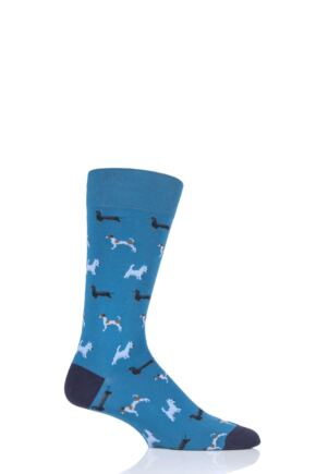 Mens 1 Pair Scott Nichol Doyle All Over Dogs Cotton Socks