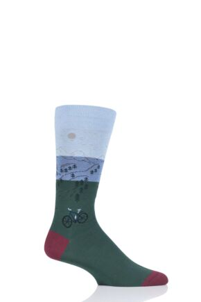 Mens 1 Pair Scott Nichol Scafell Landrover Cotton Socks