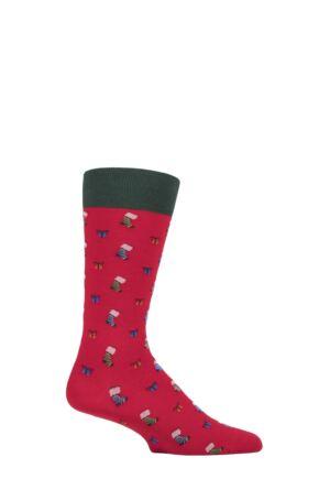 Mens 1 Pair Scott Nichol Starfield Christmas Organic Cotton Socks