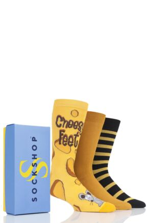 Mens 3 Pair SockShop Bamboo Bright Gift Boxed Socks