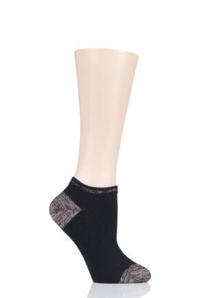 Ladies 1 Pair Tavi Noir Blake Organic Cotton Casual Art Deco Trainer Socks