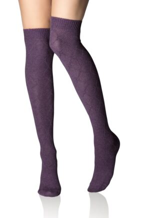 Ladies 1 Pair Tavi Noir Casual Ellis Over the Knee Socks